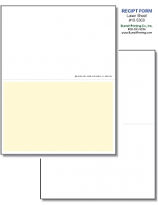 Larger image for Generic Receipt Laser Sheet 10-5309