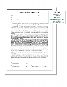 Larger image for Arbitration Agreement