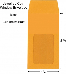 Larger image for Jewelry Window Storage Envelopes - Blank