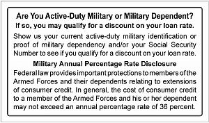 Larger image for MLA - Military ID Request Signage