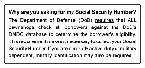 Larger image for MLA - Social Security Sign