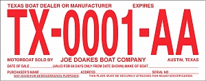 Larger image for Boat Temp Tags - Red