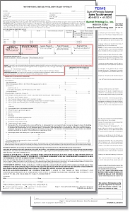 Larger image for Texas Motor Vehicle Installment Contract #24-4310