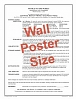 Order Schedule of Charges - Wall Poster