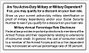 Order MLA - Military ID Request Signage