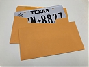 Order License Plate Envelopes - Blank