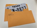 Order License Plate Envelopes - Printed